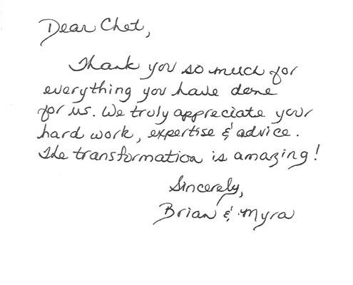 Brian and Myra Testimonial